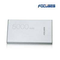 FOCUSES Ultra-slim 5000 mAh Portable bank Charger with Max Output 2.1A for iPhone, Samsung Galaxy ,Tablets, Cameras &More (Gray)