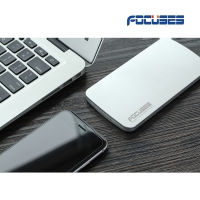 FOCUSES Ultra-slim 5000 mAh Portable bank Charger with 5V/2.1A(Gold/silver/gray)