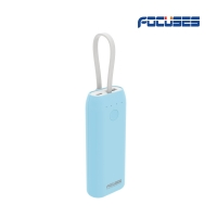 FOCUSES Compact 5200 mAh Portable bank Charger with 5V/1300mA(Green/Dark Blue/Light Blue /Pink)