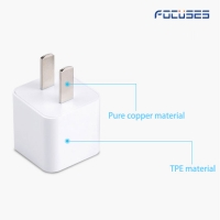 Focuses 5W (UL certified) USB Wall Charger Power Adapter for iPhone, iPad, iPod...