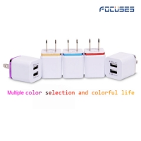 Focuses- Premium 5V/1A Dual USB Wall Charger