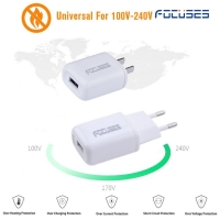 Focuses- Premium CE Certified 5V/1A Single USB Wall Mount Charger For All Smart Phones