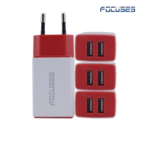 Focuses- Premium 5V/2.1A (EU/US Plug) Dual USB Wall Charger
