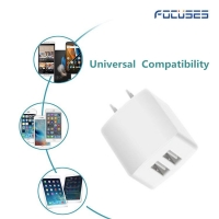 Focuses- Premium (CE Certified) 5V/2.1A Dual USB Wall Charger