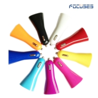 Focuses- DC 5V/2.1A (Colorful )Dual USB Car Charger