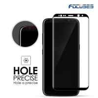 Focuses- Premium 3D Full Coverage Tempered Glass Screen Protector for Galaxy S8