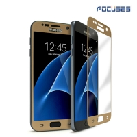 Focuses- Premium 3D Full Coverage Tempered Glass Screen Protector for Galaxy S7