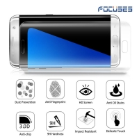Focuses- Premium 3D Full Coverage Tempered Glass Screen Protector for Galaxy S6 Edge