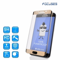 Focuses- Premium 3D Full Coverage Tempered Glass Screen Protector for Galaxy S6 Edge Plus