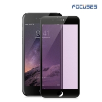Focuses Premium Anti-Purple Carbon Fiber 3D Round Edge Light Tempered Glass Screen Protector for iPhone7