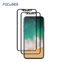 Focuses-3D Curved Full Coverage  Tempered Glass Screen Protector for iPhone 8