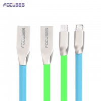 FOCUSES Premium 3.28ft/1.0m High Speed Metal Diamond Micro USB Data Cable