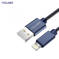 FOCUSES Premium 3.28ft/1.0m Cowboy Braided Quick Charge Sync and Charging iOs USB Data Cable