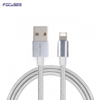 FOCUSES Premium 3.28ft/1.0m Braided Jacket Two in One USB Data Cable for Android and iOs
